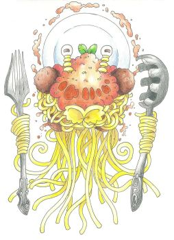 Flying Spaghetti Monster (April Fools'!) by AtmaFlare
