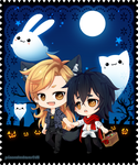 :Gn'R: Chibi DuffIzzy Halloween by PrinceOfRedroses