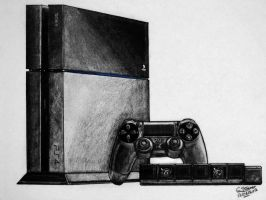 PS4 Drawing by LethalChris