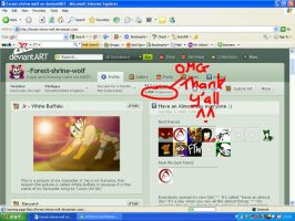 Thanx for 1000 pg views by Forest-shrine-wolf