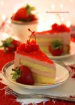 Strawberry Mousse Birthday Cake by theresahelmer