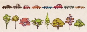 Cars and trees. by larolaro