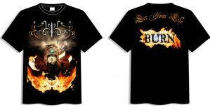 New Fire Dusk T-Shirt by MD-Arts