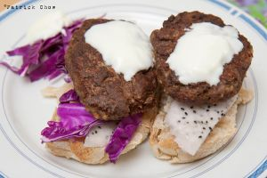 Home made beefburger by patchow
