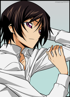 Lelouch: Laid back by zomgspongelolbob48