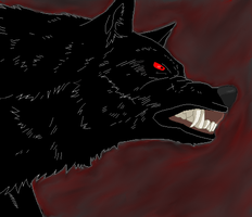 Shadow my wolf by dogzoo22