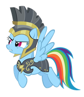 Another Rainbow Dash Hurricane Armor vector by MasterRottweiler