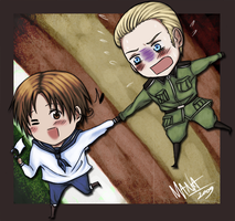 Friends . Hetalia chibi by ManaSaya