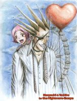 Kenpachi and Yachiru by AngieVX