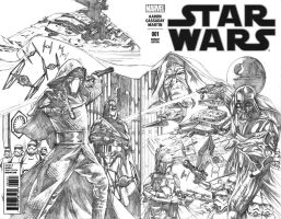 Star Wars blank cover A (1 of 3): Legacy (pencils) by Titancross