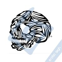 SkullHead tattoo design by Erotic-sigh