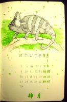 4th page of 2012 calendar by wwei