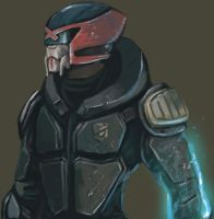 Xenari Severus : Turian Judge (Dredd) by FonteArt
