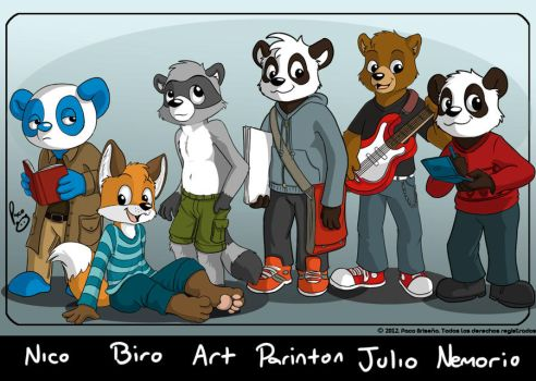 Furry pals 2012 by pandapaco