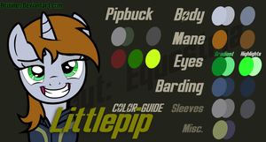 Littlepip Color Guide by Brisineo