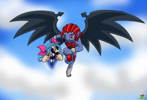Flying in the sky by Coffgirl