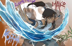 Korra of the Fire Ferret Gang! by Kauritsuo