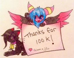 Thank you for 100K! by TheNeonUmbreon