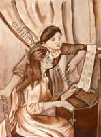 Two Girls on a Piano by ashley-f