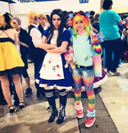 Rainbow and madness by Noah-Nyan