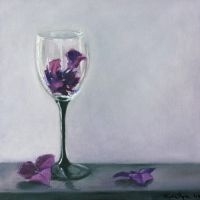 Wine Glass with Flowers by Lydia888