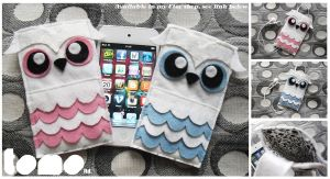 TOMO's Mr and Mrs Hoot - iPhone iPod Cases by TomodachiIsland