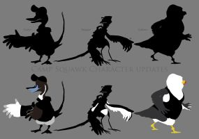 CS Silhouette roughs by weremagnus