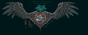 Norse world tree with wings by lavonne