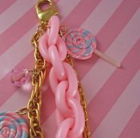 CottonCandy Lollipop Bag Charm by FatallyFeminine