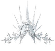 Snow Queen Crown - Closer detail by Branstock
