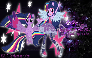 Rainbow Rocks WP Twilight Sparkle by MLR19