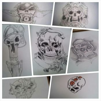 skull drawings by Wallace21