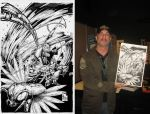 Greg Capullo with SPAWN-vinz by Vinz-el-Tabanas