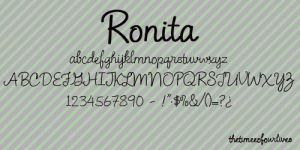 Ronita font. by TheTimeeOfOurLives