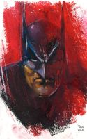 Batman Oil Pastel by RodReis