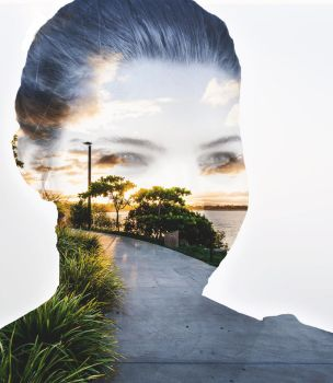 First Double Exposure by neonlightedstreets