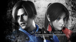 Leon S. Kennedy n Claire Redfield wallpaper by Vicky-Redfield