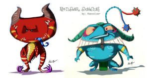 monster sketches by ReevolveR