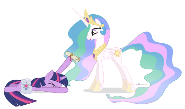 Princess Celestia in 'Spike's Day Off' by dm29