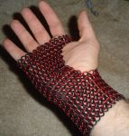 Bracers in Red and Black by ChaynLynx