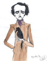 Edgar  Allan  Poe by DemonCartoonist