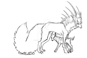 Protector (Re-sketched) by MischievousRaven