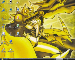 Golden Omnimon Desktop by CrimsonWolfmon