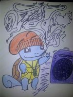GANGSTER SQUIRTLE by LooneyDanny
