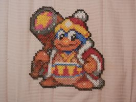 Super Smash Bros 4. King Dedede Bead Sprite by MechaPoltergeist