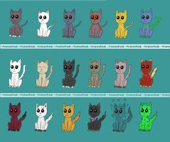 18 Cat Adoption - ONLY 5 POINTS EACH! OPEN NOW! by amineefreak