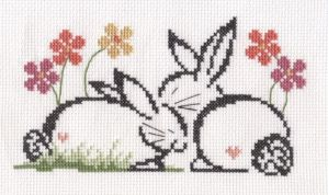 Love Bunnies cross stitch by Lil-Samuu
