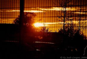 Sunset in Dortmund by LittleGabriel