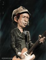Keith Richards caricature by DevonneAmos
