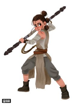 Rey Fan Art by BlackRamu